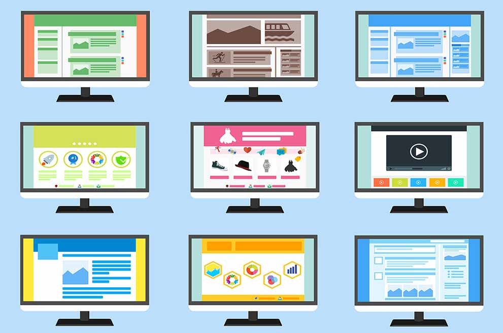 Różnorodne witryny stron internetowych